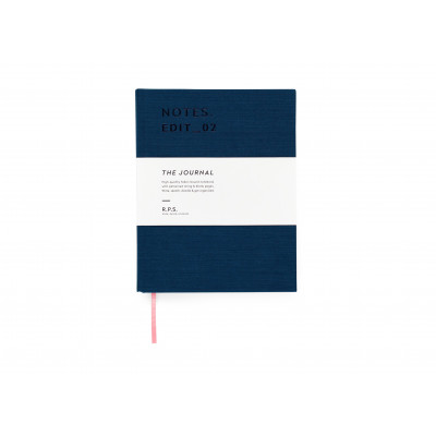 Canvas Covered Notebook - Petrol Blue