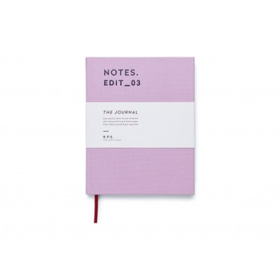 Canvas Covered Notebook - Dusty Lavender