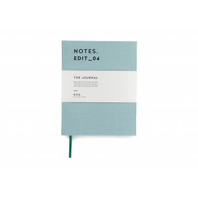 Canvas Covered Notebook - Dusty Mint