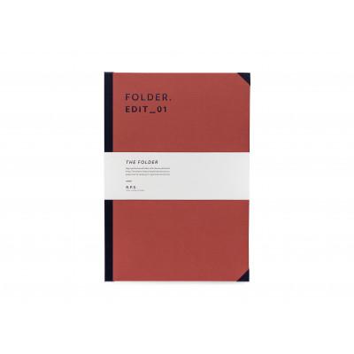 Folder A4 - Rust Red
