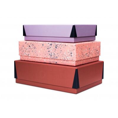 Box Set - set of three in Rust Red