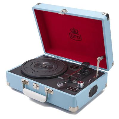 Attaché Record Player   Blue