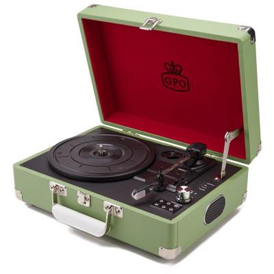 Attaché Record Player   Green