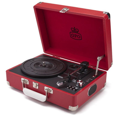 Attaché Record Player   Red