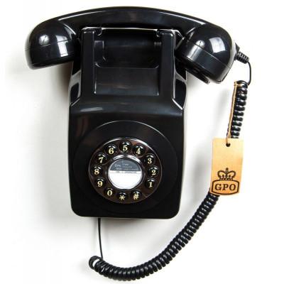 GPO 746 Wallphone   Black