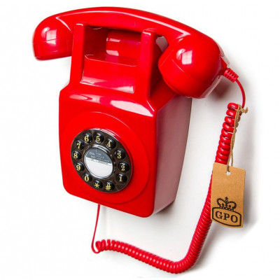 GPO 746 Wallphone   Red