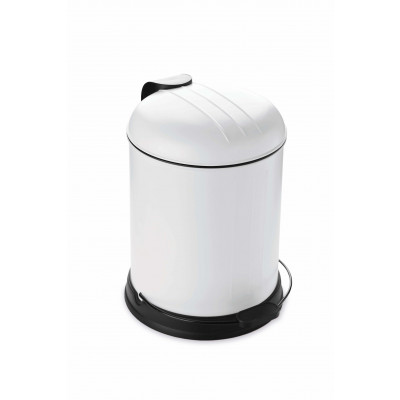 Pedal Bin with Soft Closing Lid 5 L | White