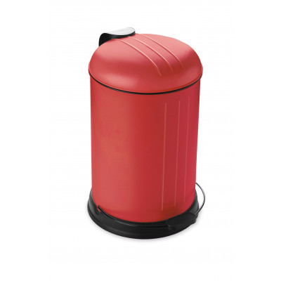 Pedal Bin with Soft Closing Lid 12 L | Red