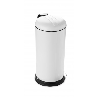 Pedal Bin with Soft Closing Lid 30 L | White