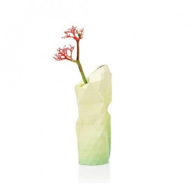 Paper Vase Cover Small | Yellow Tones