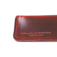 Leather Sheath   Crimson Red Horween