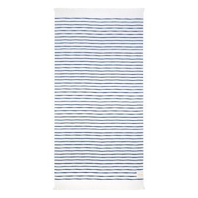 Strandtuch Türkisch | Blau/Weiß