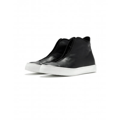 High-top Sneakers   Black & White