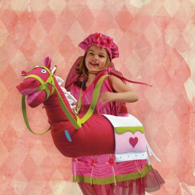 Pferdekostüm Pink Canvas