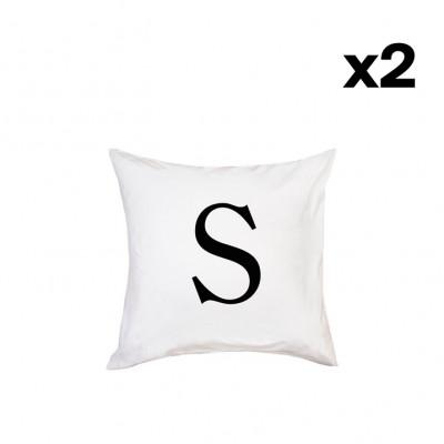 2er-Set Kissenbezügen | S-40 x 80 cm
