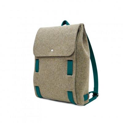 "Backpack Brown 15"" | Blue Straps"