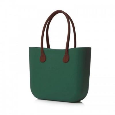 O Tasche braune Ledergriffe   Olive