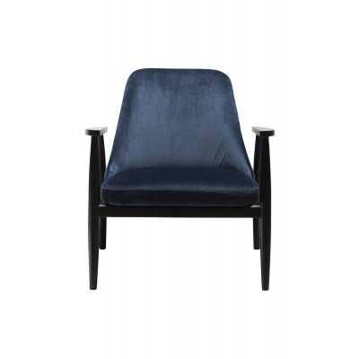 Lounge Chair Saga Velvet | Blue