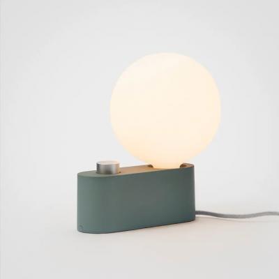 Lampe Alumina Sage mit Kugel XL Glühbirne   Grün