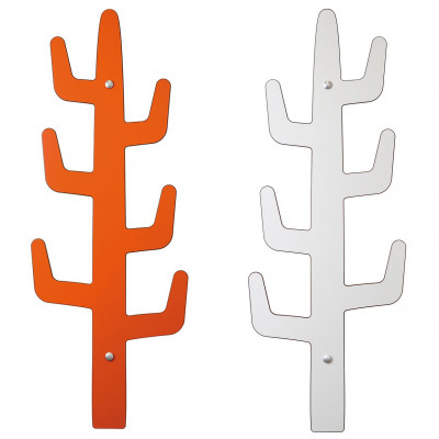Kleiderhaken Saguarito | Orange & Weiß