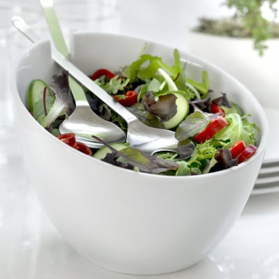 Salatschüssel Milano | Weiß