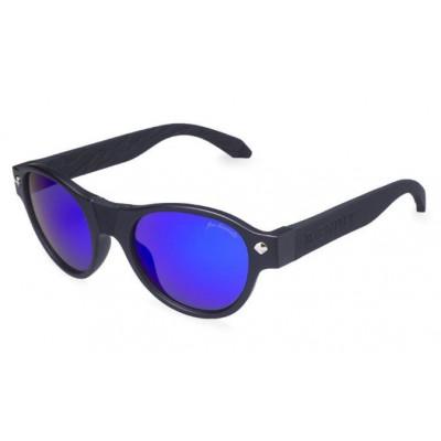 Salvatore Sunglasses | Black Frame & Blue Lens