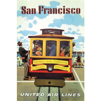 Poster San Francisco United Air Lines 2 | 30 x 40 cm
