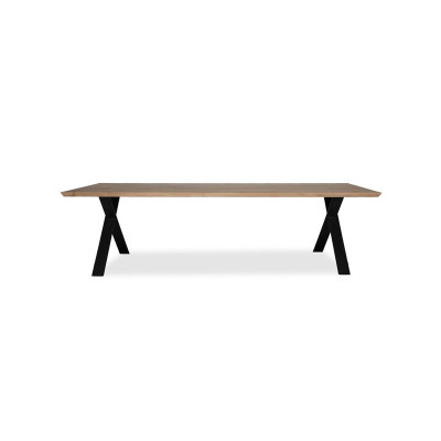 Dining Table Albert X Base | Natural Oak Table Top 1 Piece