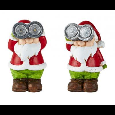 Solar Christmas Light Santa | Set of 2