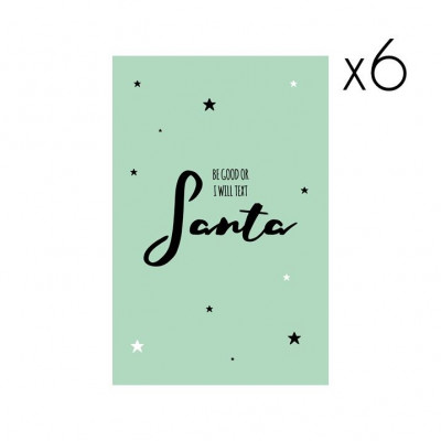Christmas Cards | Set of 6 Be Good or...
