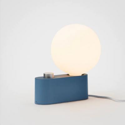 Lampe Alumina Sapphire mit Kugel XL Glühbirne   Blau