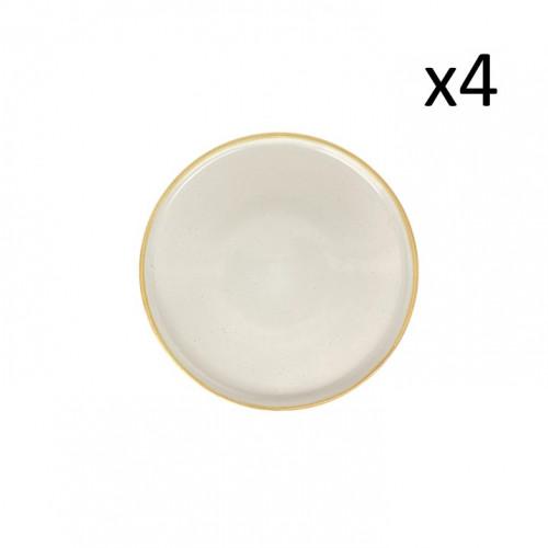 Teller Sandro Ø 26 cm 4er-Set | Beige