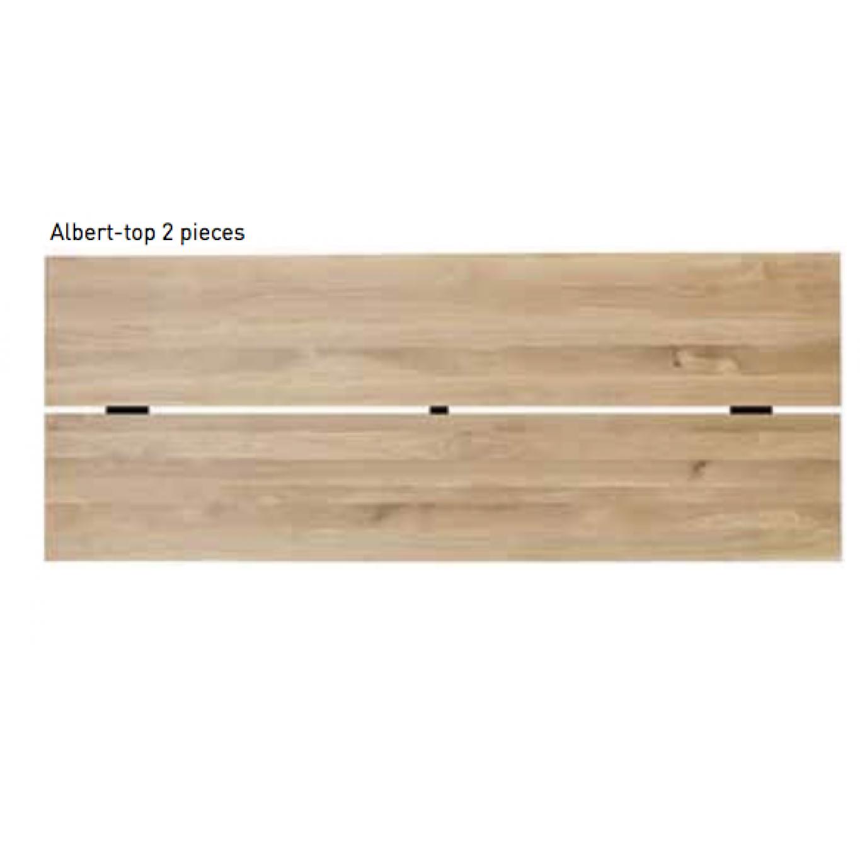 Albert A | Schwarzer Rahmen, Oberteil in zwei Teilen - klein