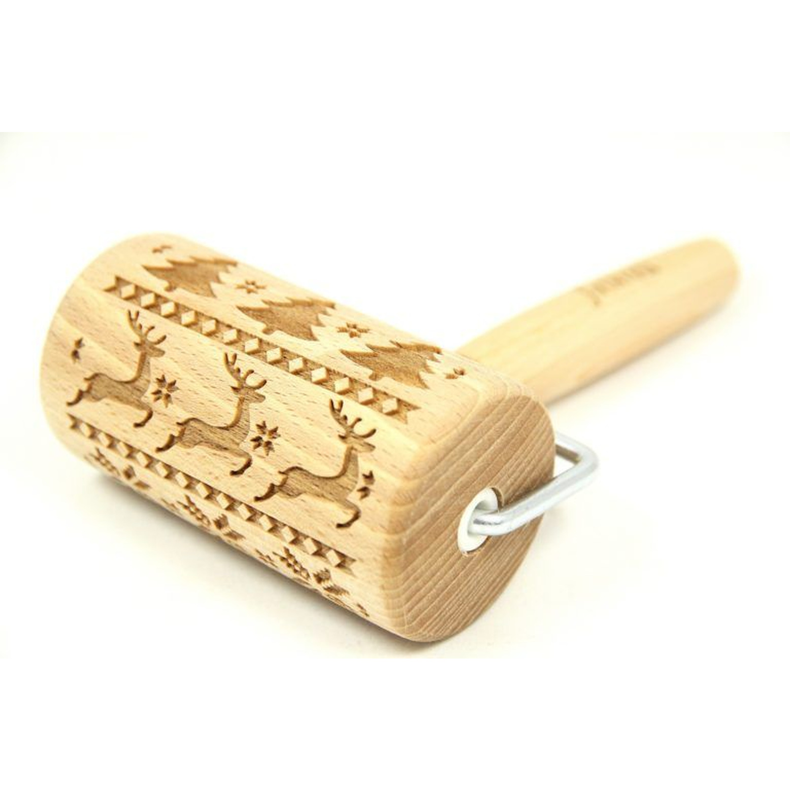 Engraved Rolling Pin | Scandinavian Christmas-Mini
