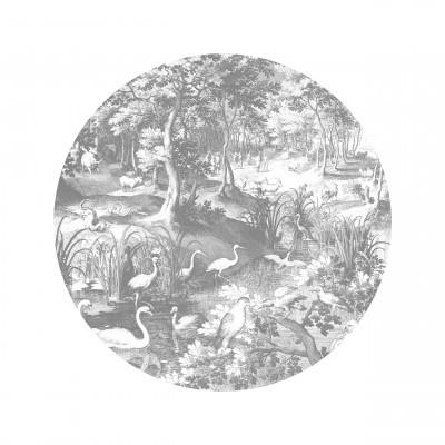 Wallpaper Circle Engraved Landscapes