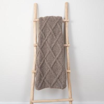 Marsipan Plaid 130 x 156 cm | Alpakawolle braun