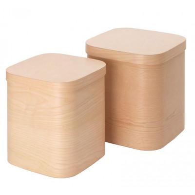 Quadratische Box Scatole 80 | Natur