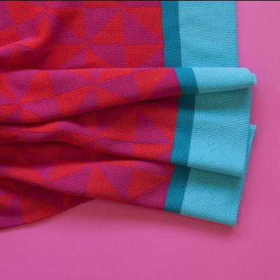 Blanket | Aqua/Red/Fushia