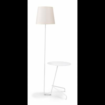 ARTHUR Floor Lamp & Side Table   White