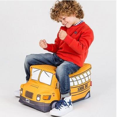 Kid's Pouf School Bus