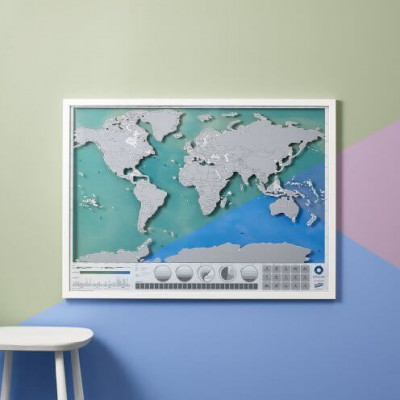 Karte I Ozeane ankratzen