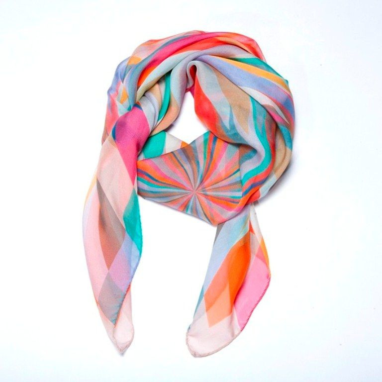 """Scarf """"Explosion"""" Pink"""