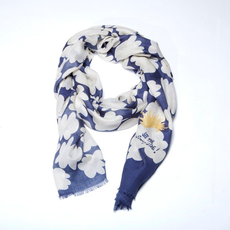 """Scarf """"See The Sunny Side"""" Blue"""