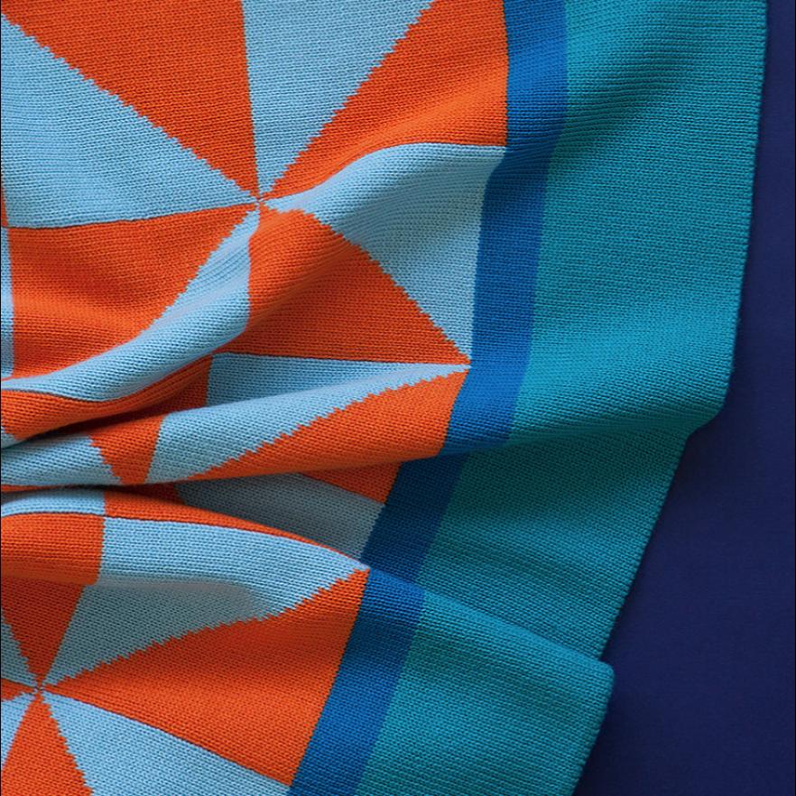 Blanket | Aqua/Orange/Baby Blue