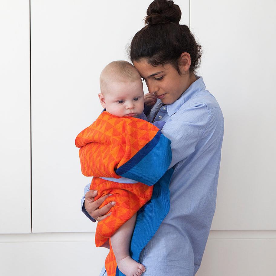 Blanket   Blue/Orange