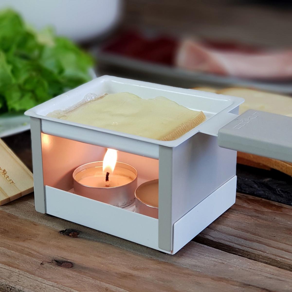 Raclette-Set mit Teelicht   Grau