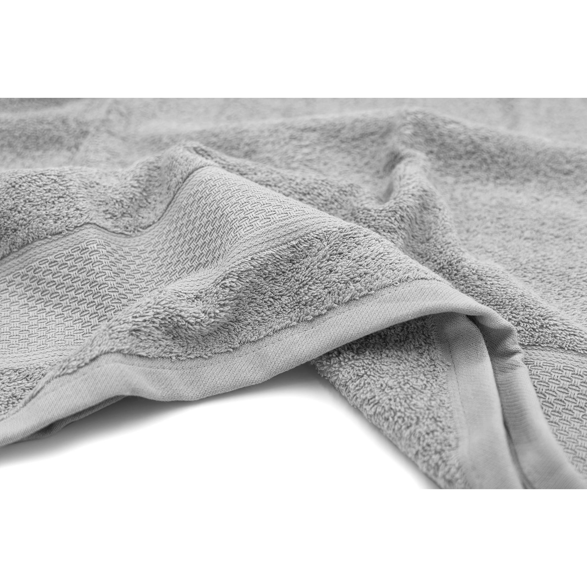 Serviette de bain James | Gris argenté | Lot de 3