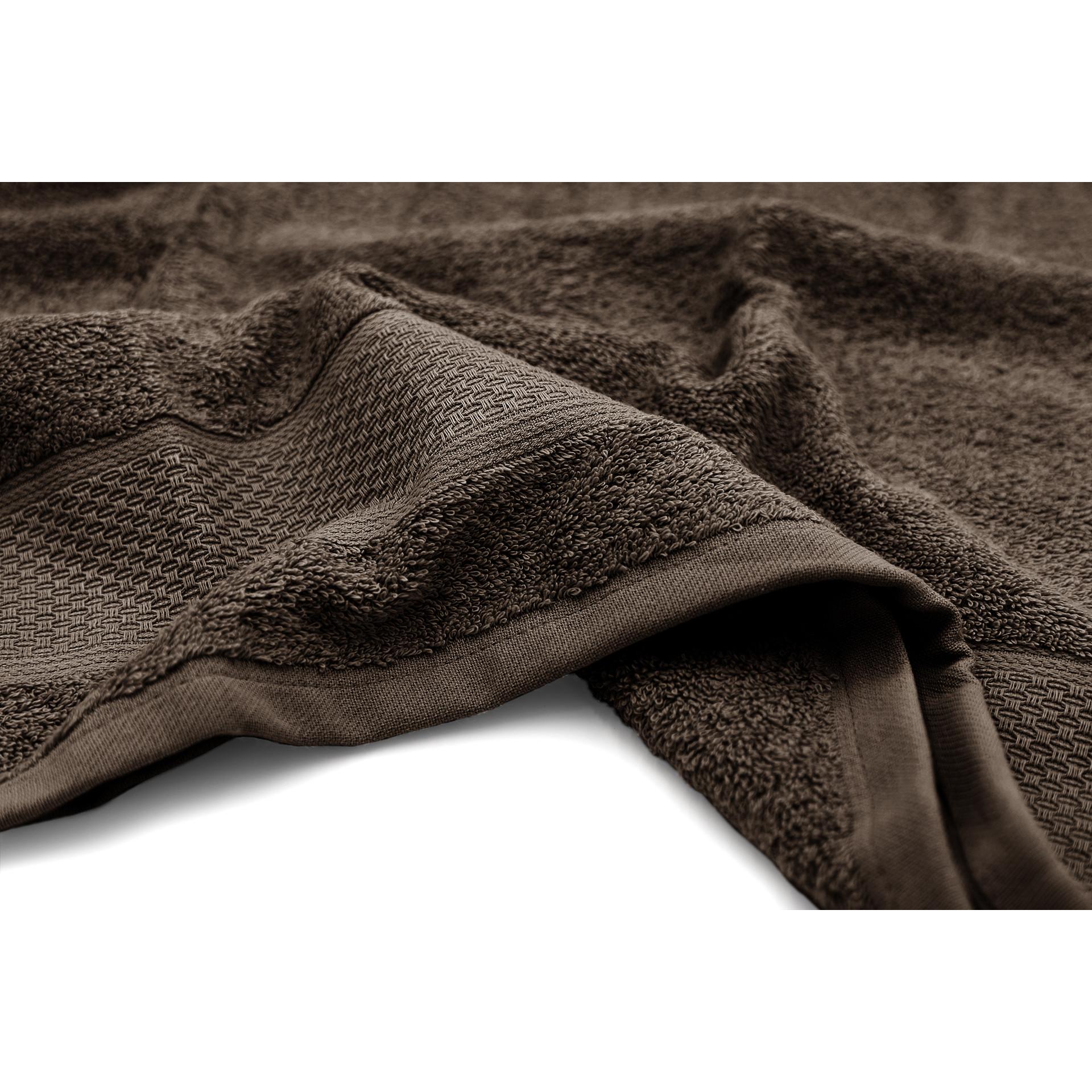 Serviette de bain James   Marron foncé-140 x 70 cm