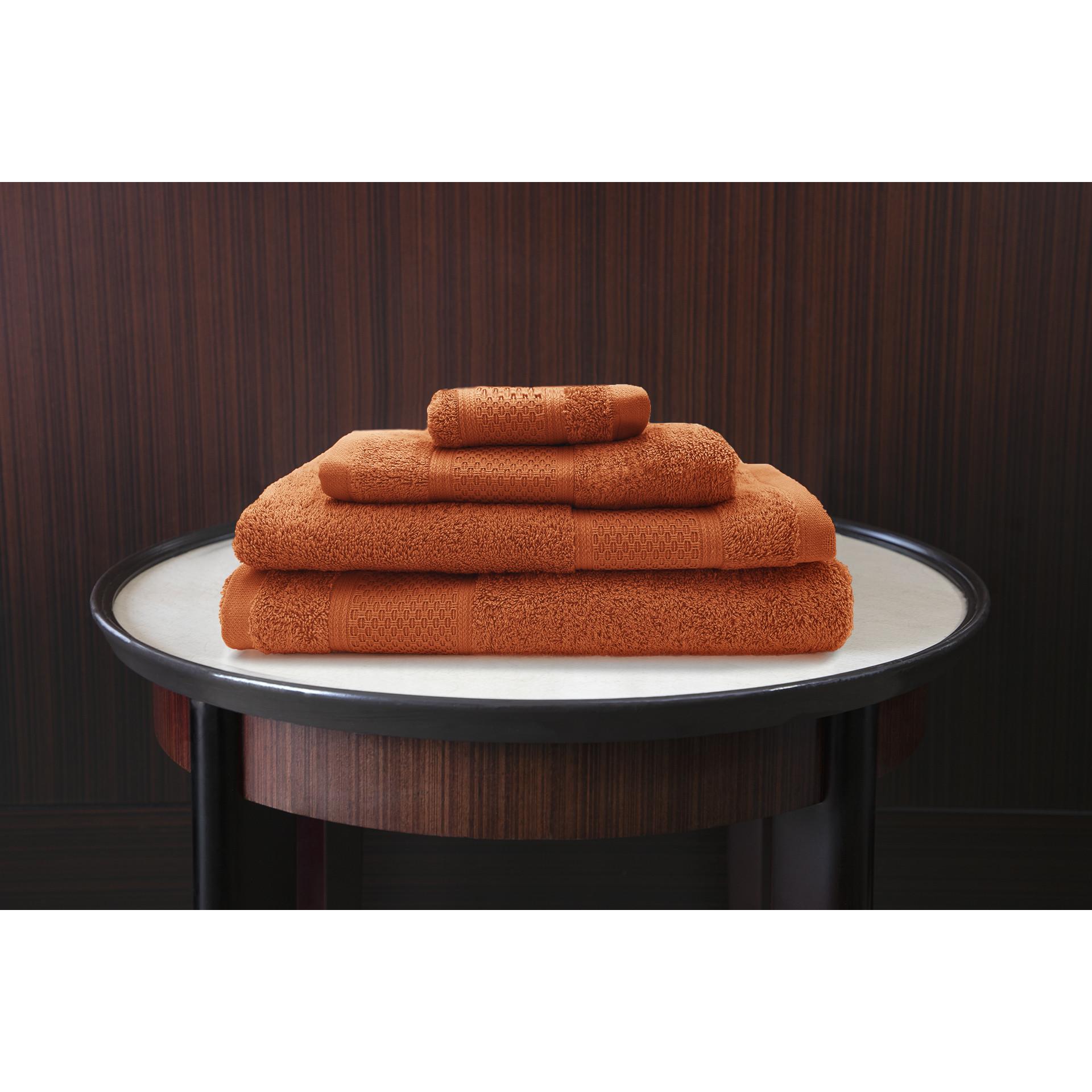 Serviette de bain James | Orange-50 x 100 cm