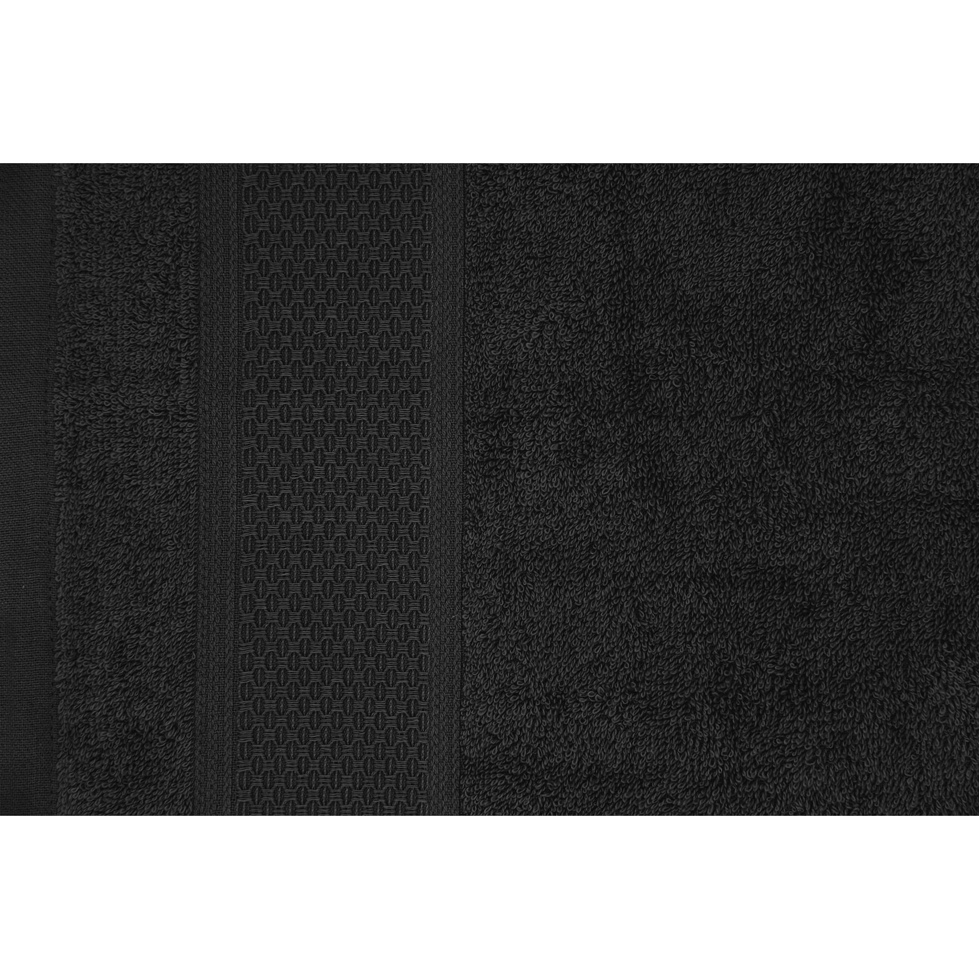 Serviette de bain James | Noir-140 x 70 cm